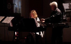 Unser kleines Filmorchester  - immer hoch konzentriert und uns auf der Bühne zusammenhaltend.