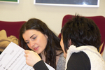 Auch die Solisten treffen erste Absprachen zu den Titeln, die sie gemeinsam präsentieren werden.